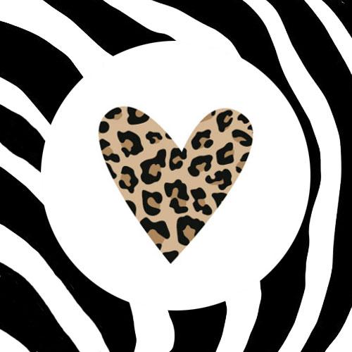 sticker | hartje | luipaardprint
