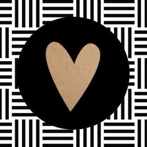 sticker | hartje | zwart-kraft