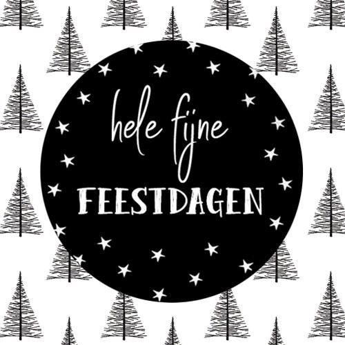 sticker | hele fijne feestdagen