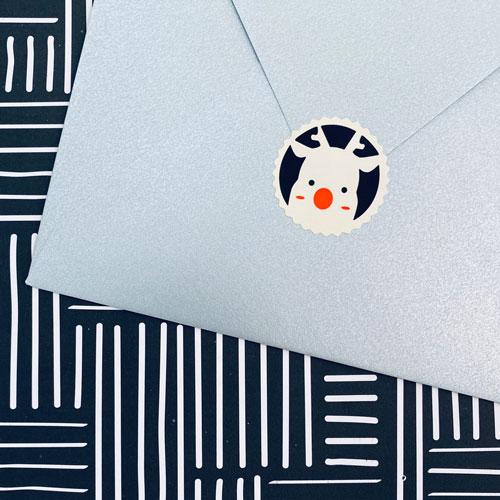 sticker | kerst | rendier