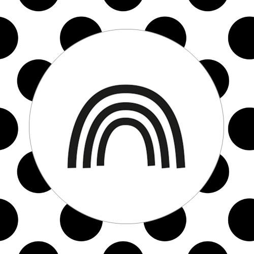 sticker | regenboog | wit-zwart