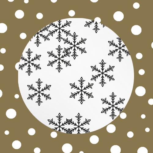sticker | sneeuwvlokken