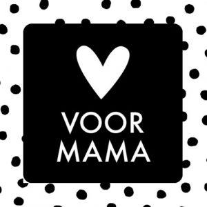 sticker | voor mama