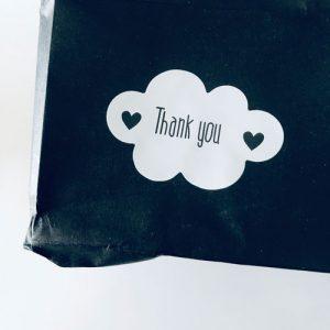 sticker | wolkje | thank you