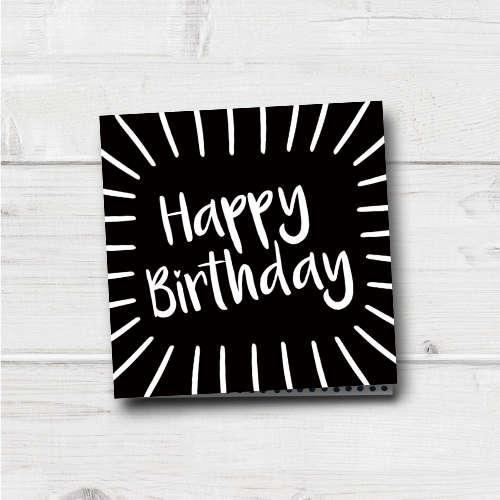 verjaardagskaart | happy birthday | shine