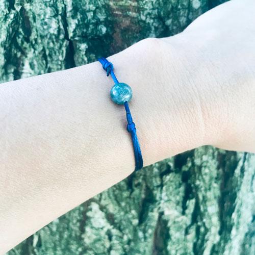 verstelbaar armbandje   blue passion