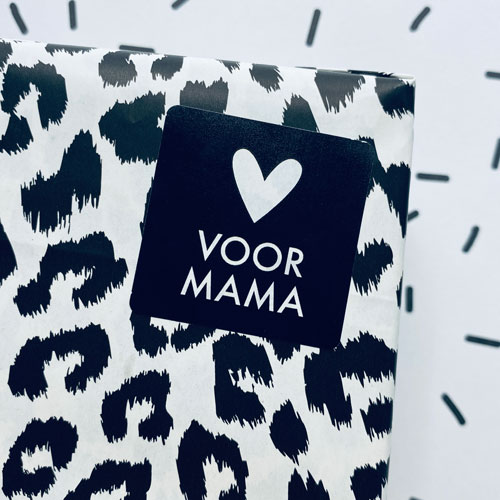vierkante sticker | voor mama