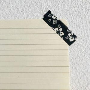 washi tape / masking tape | bloemen