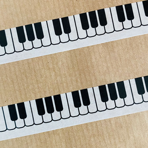 washi tape / masking tape | piano : keyboard