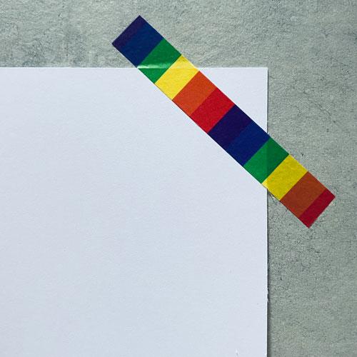 washi tape / masking tape   rainbow