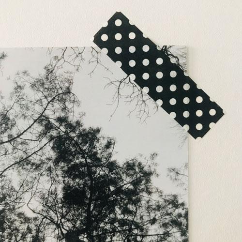 washi tape / masking tape | witte polkadots