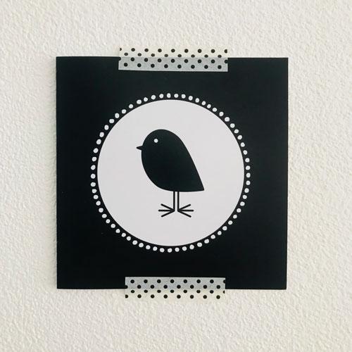washi tape / masking tape | zwarte polkadots