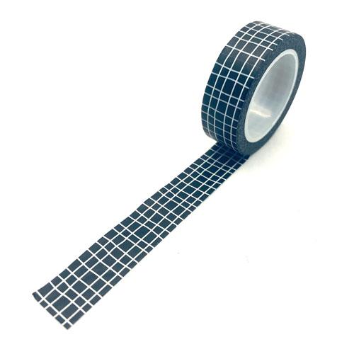 washi tape | rol | ruitjes | zwart-wit