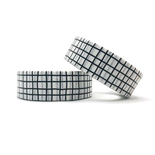 washi tape | ruitjes | wit-zwart