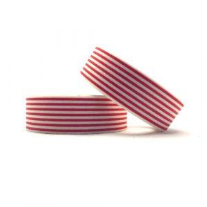 washi tape | streepjes | rood-wit