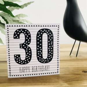 wenskaart: 30 jaar