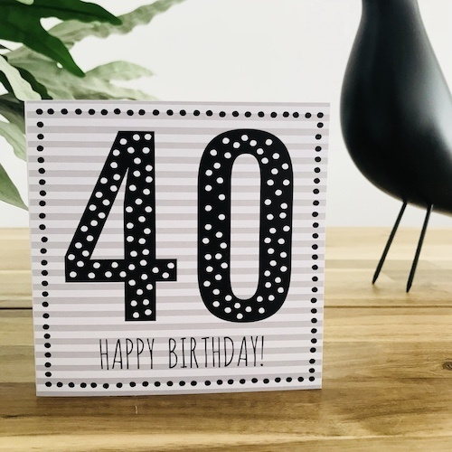 wenskaart: 40 jaar