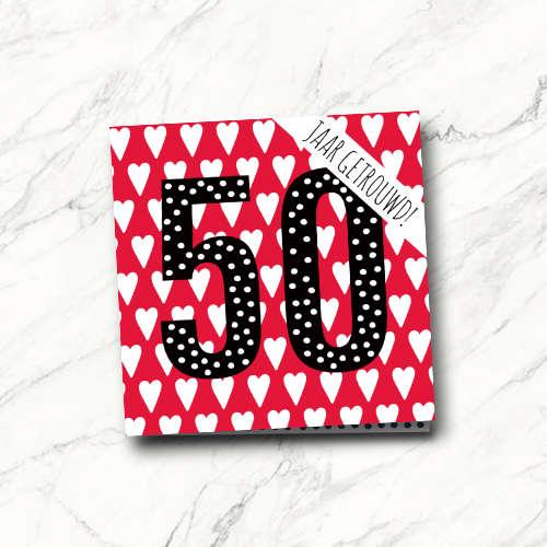 wenskaart: 50 jaar getrouwd