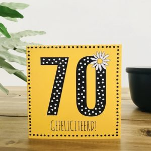wenskaart: 70 jaar