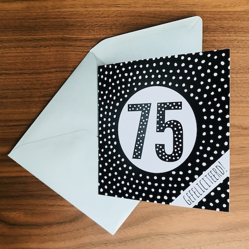 wenskaart: 75 jaar