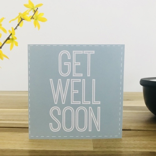 wenskaart: get well soon