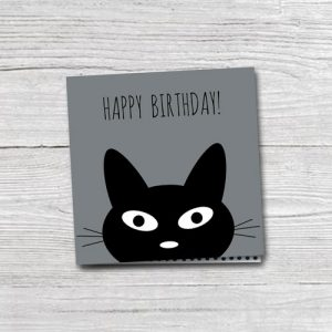 wenskaart | happy birthday | cat