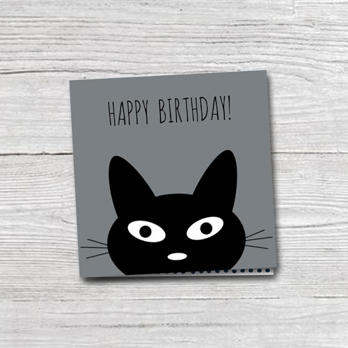 wenskaart | happy birthday | cat