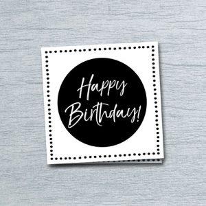 wenskaart: happy birthday!
