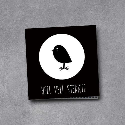 wenskaart | heel veel sterkte | bird