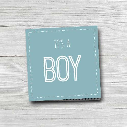 wenskaart: it's a boy