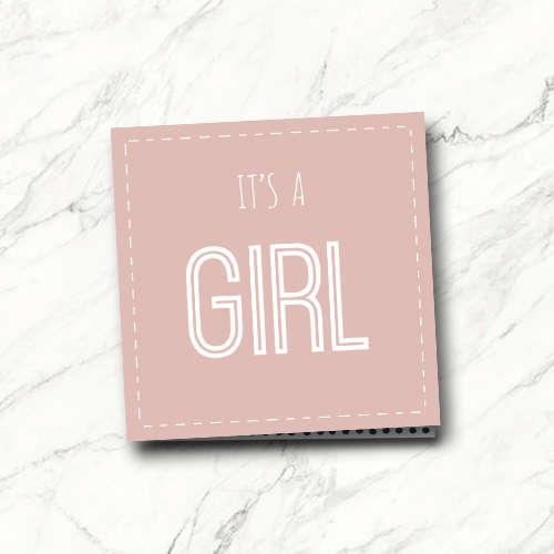 wenskaart: it's a girl