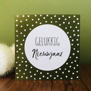 kaartje: gelukkig nieuwjaar