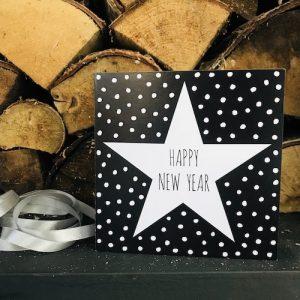 kaartje met ster: happy new year