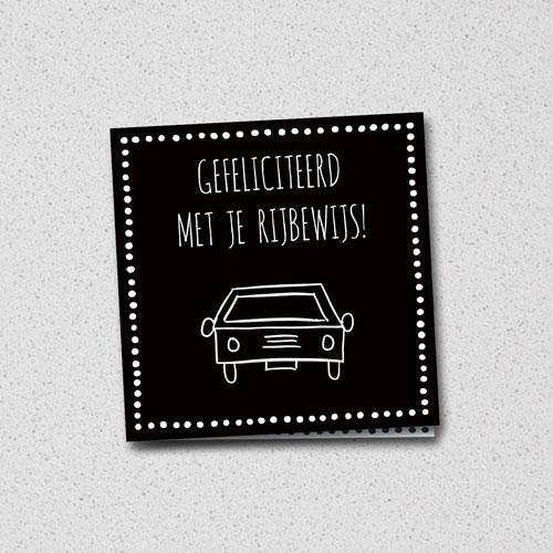 wenskaart: gefeliciteerd met je rijbewijs
