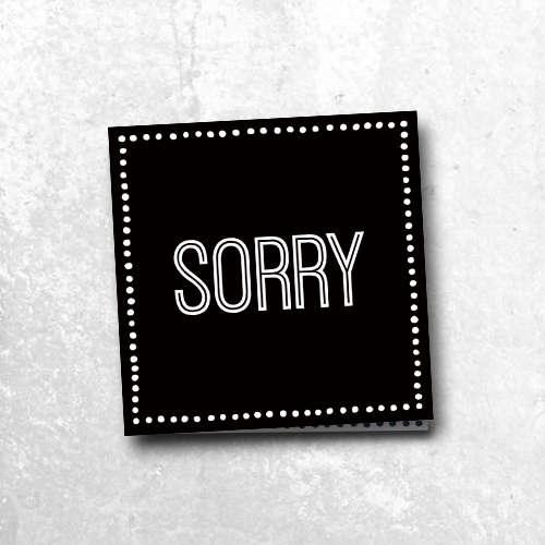 wenskaart: sorry