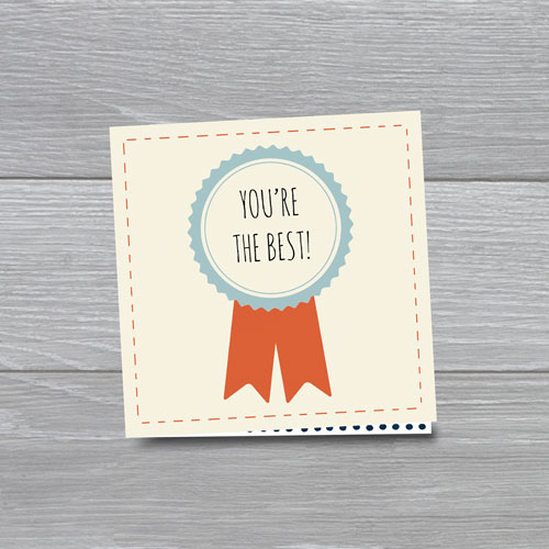 wenskaart: you're the best